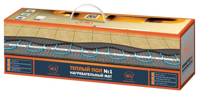 Нагревательный мат Теплый пол №1 ТСП-1350-9.0 150Вт/м2 9м2 1350Вт