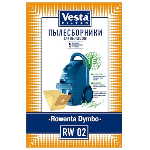 Vesta filter Бумажные пылесборники RW 02 5 шт. vesta filter rw 02 комплект пылесборников 5 шт