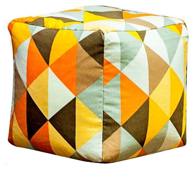 DreamBag пуфик Янтарь оранжевый жаккард