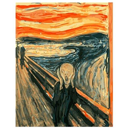 Купить Рыжий кот Картина по номерам Эдвард Мунк. Крик 40х50 см (B386), Картины по номерам и контурам