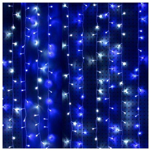 Гирлянда Sh Lights Занавес 150 х 250 см OLDCL500, 500 ламп, синие/белые диоды/прозрачный провод гирлянда sh lights 250 см