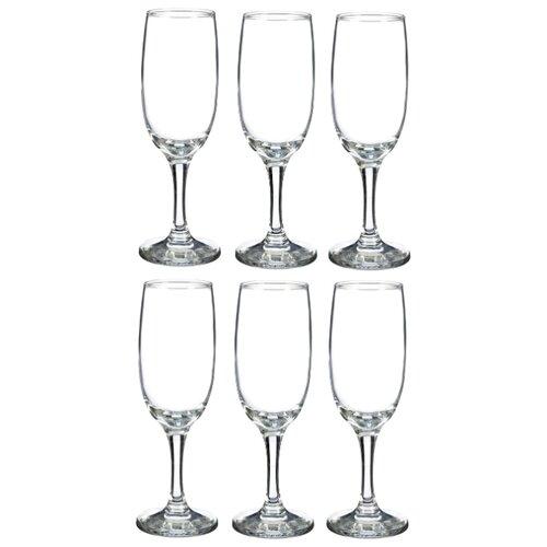 Pasabahce Набор бокалов для шампанского Bistro 190 мл 6 шт прозрачные
