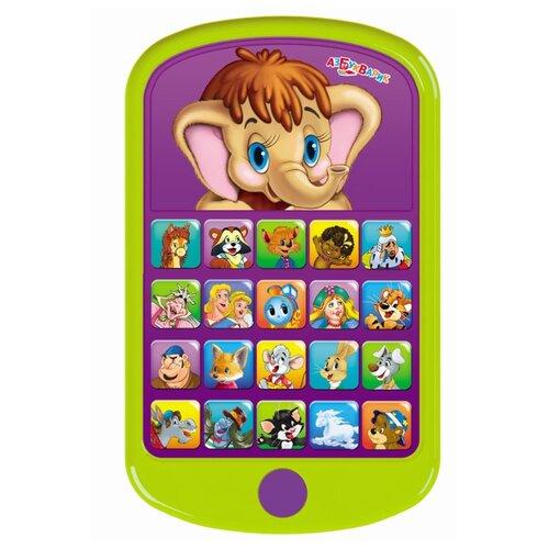 Интерактивная развивающая игрушка Азбукварик Мультиплеер Мамонтёнок зеленый азбукварик обучающая игрушка планшетик загадайка цвет зеленый синий