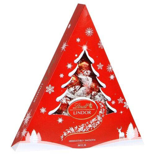 Набор конфет Lindt Lindor Елка молочный 125 г красный