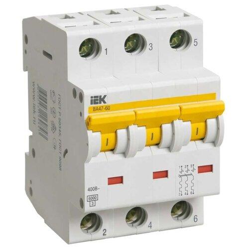 Автоматический выключатель IEK ВА 47-60 3P (C) 6kA 16 А