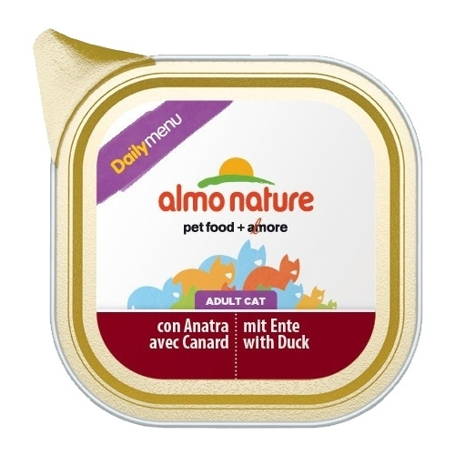 Корм для кошек Almo Nature (0.1 кг) 32 шт. DailyMenu Bio Pate Adult Cat Duck