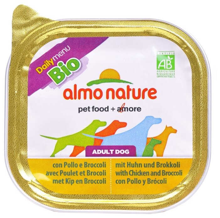Корм для собак Almo Nature Daily Menu курица с брокколи 300г