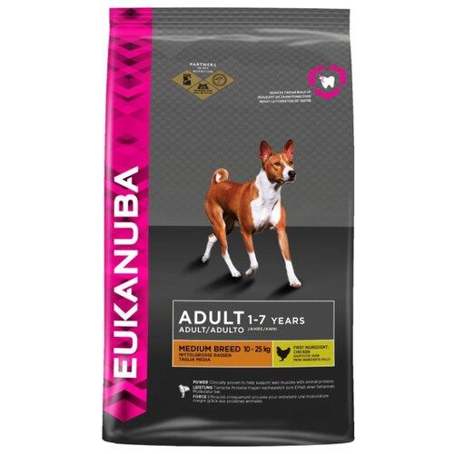 Корм для собак Eukanuba (3 кг) Adult Dry Dog Food For Medium Breed ChickenКорма для собак<br>