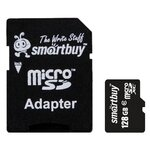 Карта памяти SmartBuy microSDXC Class 10 + SD adapter