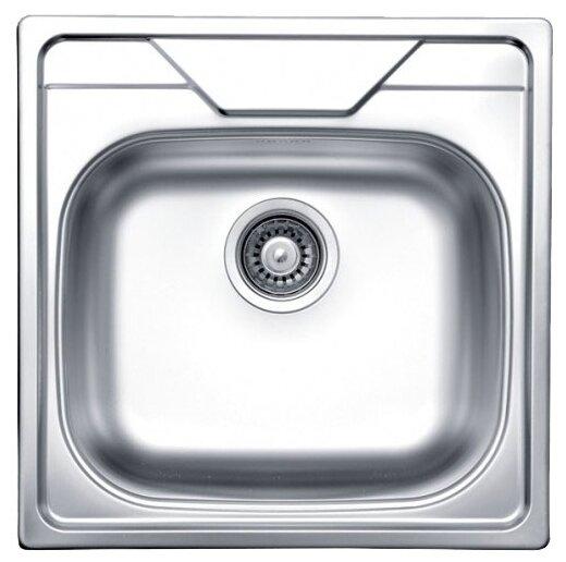 Врезная кухонная мойка Kromevye Oberon EC176 50х50см нержавеющая сталь