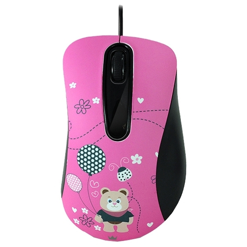 Мышь CROWN CMM-30 Bear Pink USB