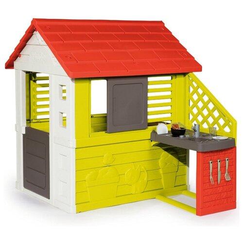 Домик Smoby С кухней 810702/810703, 810711/810713 красный