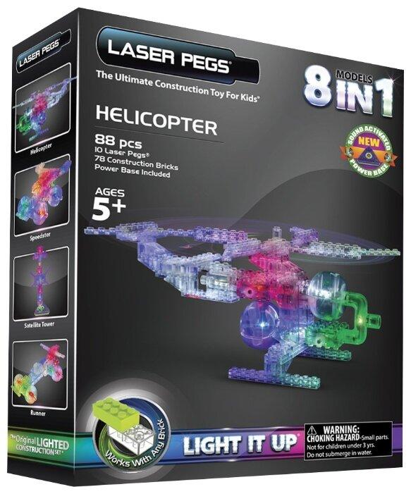 Конструктор Laser Pegs Triangle Power Base G1270B Вертолет 8 в 1