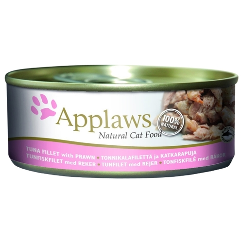Applaws Cat Tuna Fillet with Prawn canned (0.156 кг) 24 шт. Корма для кошек