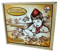 Винтовой конструктор Десятое королевство Конструктор металлический для уроков труда 00982 №3 в деревянной упаковке