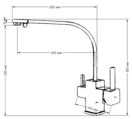 Однорычажный смеситель для кухни (мойки) Seaman Barcelone SSL-5390 Snow