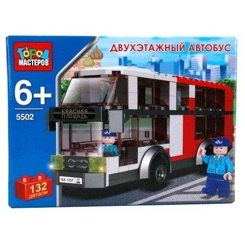 Купить Конструктор ГОРОД МАСТЕРОВ Городской транспорт 5502 Двухэтажный автобус, Конструкторы