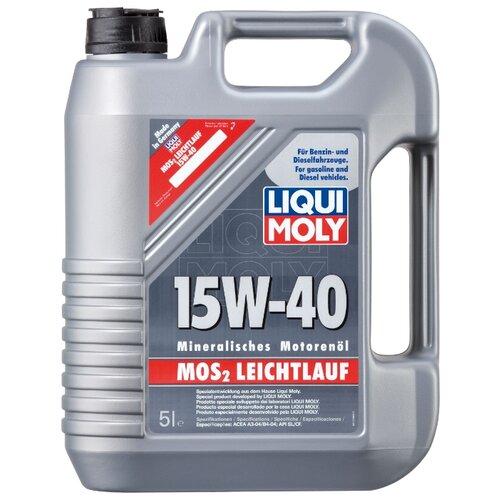 Минеральное моторное масло LIQUI MOLY MoS2 Leichtlauf 15W-40, 5 л по цене 2 669