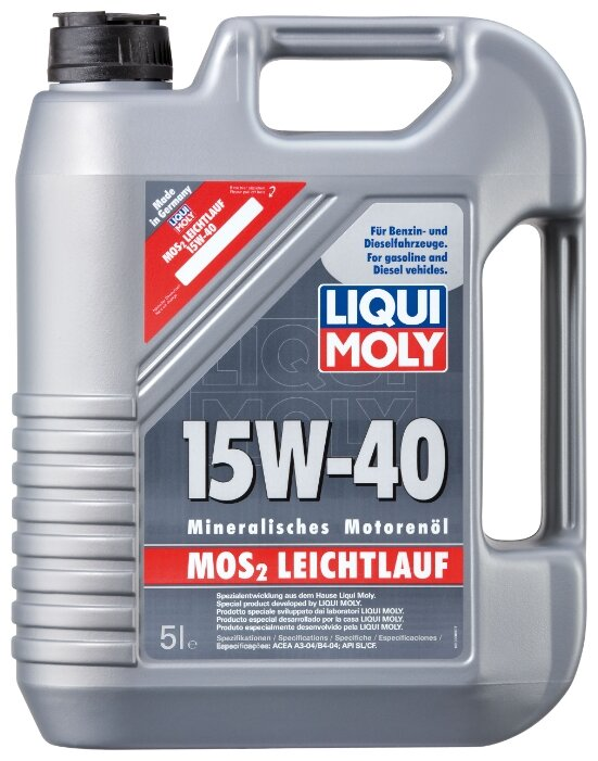 Моторное масло LIQUI MOLY MoS2 Leichtlauf 15W-40 5 л