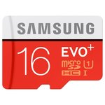 Карта памяти Samsung microSDHC EVO Plus 80MB/s + SD adapter