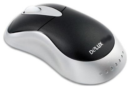 Мышь Delux DLM-325BP Black-Silver PS/2