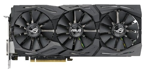 ASUS Видеокарта ASUS GeForce GTX 1080 Ti 1569Mhz PCI-E 3.0 11264Mb 11010Mhz 352 bit DVI 2xHDMI HDCP Strix OC Gaming