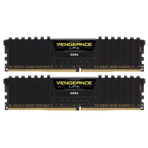 Купить Оперативная память Corsair DDR4 2666 (PC 21300) DIMM 288 pin, 4 ГБ 2 шт. 1.2 В, CL 16, CMK8GX4M2A2666C16