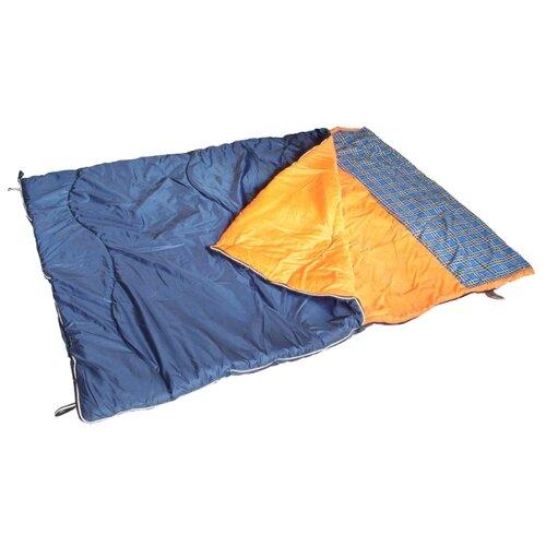 Спальный мешок Спортивные Мастерские Одеяло с подголовником Дуэт -5°С/+10°С синий