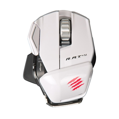 Мышь Mad Catz R.A.T.M WIRELESS MOBILE GAMING MOUSE GLOSS White USB