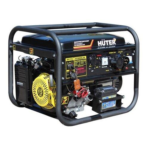 Фото - Бензиновый генератор Huter DY8000LXA (6500 Вт) бензиновый генератор huter dy3000lx 2500 вт
