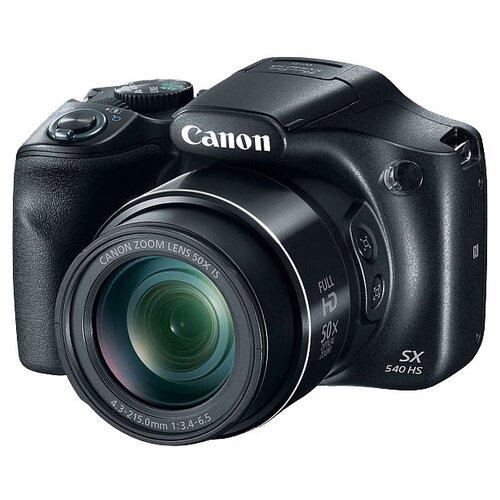 Фото - Фотоаппарат Canon PowerShot SX540 HS черный фотоаппарат canon powershot sx740 hs серебристый коричневый