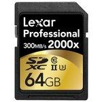 Карта памяти Lexar Professional 2000x SDXC UHS-II + SD UHS-II reader