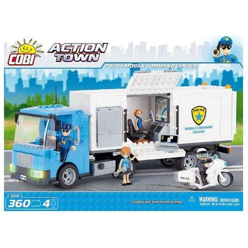 Купить Конструктор Cobi Action Town 1573 Мобильный командный центр полиции, Конструкторы