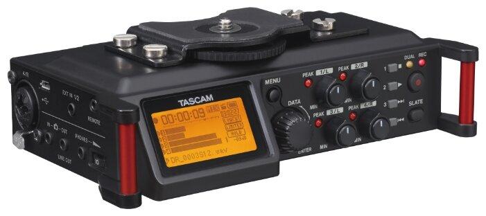TASCAM DR-70D, портативный 4-канальный рекордер на карты памяти SD/SDHC для DLSR.