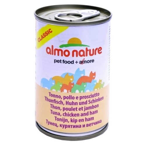 Корм для кошек Almo Nature (0.14 кг) 1 шт. Classic Adult Cat Tuna, Chicken and Ham