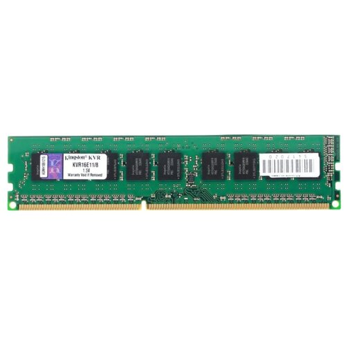 Купить Оперативная память Kingston ValueRAM DDR3 1600 (PC 12800) DIMM 240 pin, 8 ГБ 1 шт. 1.5 В, CL 11, KVR16E11/8