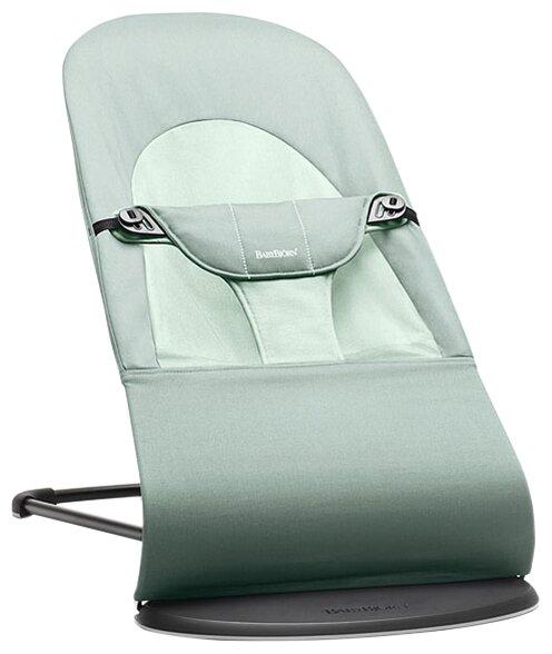 Кресло - шезлонг BabyBjorn Bliss Bundle Anthracite Cotton арт.6060.21 с деревянной игрушкой