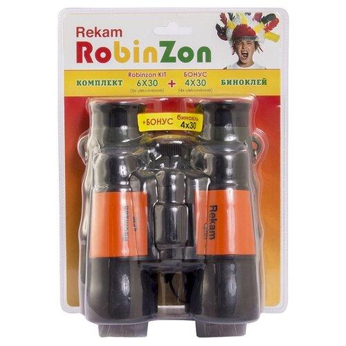 Купить Бинокль Rekam Robinzon Kit 6x30 4x30 черный