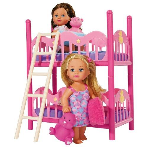 Набор 2 куклы Simba Еви с кроваткой, 12 см, 5733847Куклы и пупсы<br>