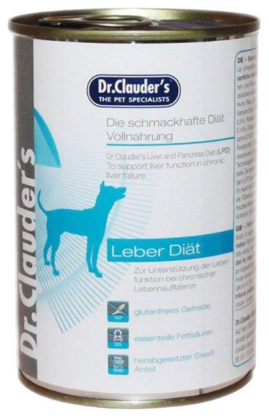 Корм для собак Dr. Clauder's Liver diet консервы для собак при заболеваниях печени (0.4 кг) 1 шт.