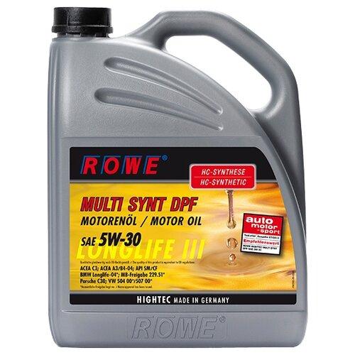 Моторное масло ROWE Hightec Multi Synt DPF SAE 5W-30 5 л моторное масло rowe hightec synt rsi sae 5w 40 20 л