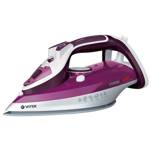 Утюг VITEK VT-1246 фиолетовый/белый отпариватель vitek vt 1287 vt белый фиолетовый