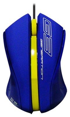 Мышь G-CUBE GLV-310BL Blue USB