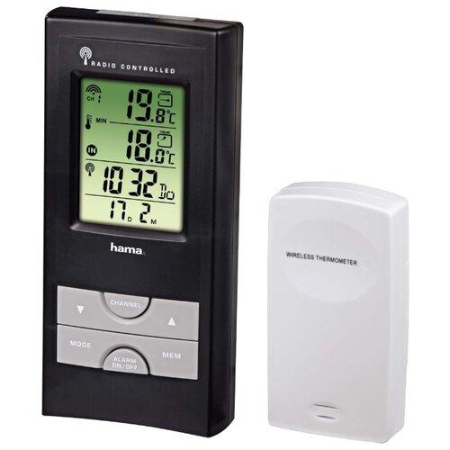 Термометр HAMA EWS-165 черныйЦифровые метеостанции<br>