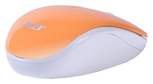 Мышь Acer Wireless Optical Mouse LC.MCE0A.036 White-Orange USB