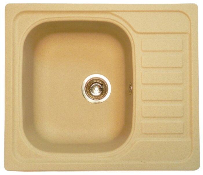 Врезная кухонная мойка Granula 5801 58х50см искусственный гранит