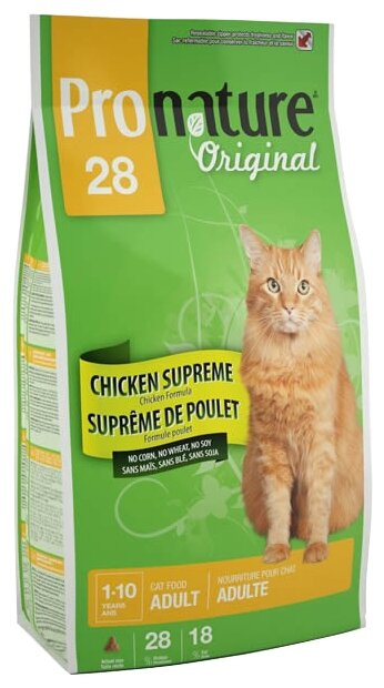ProNature (5.44 кг) 28 Chicken Supreme для взрослых кошек