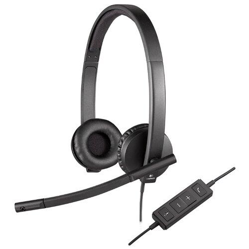 Компьютерная гарнитура Logitech USB Headset Stereo H570e черный гарнитура