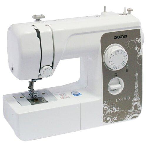 Швейная машина Brother LX-1700, белый/серыйШвейные машины<br>
