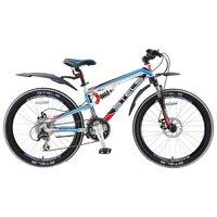 """Подростковый Велосипед Stels Navigator 490 Md 24 (2016) 14"""" Белый/чёрн/красн/синий"""